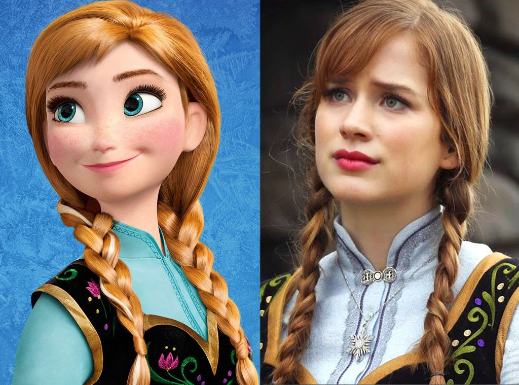 Anna, Frozen, Animated Disney vs. Live Action Disney