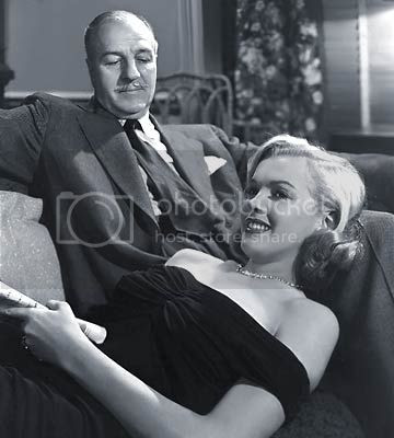 Louis Calhern and Marilyn Monroe in 'The Asphalt Jungle'