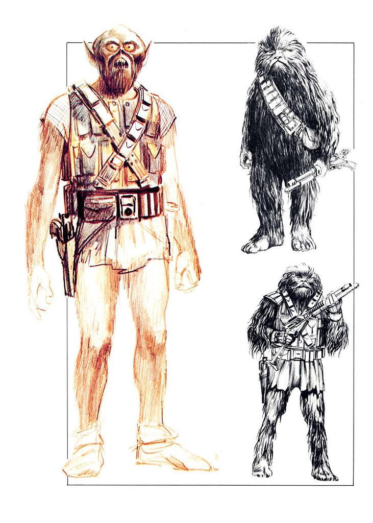 Ralph McQuarrie - Chewbacca Sketches
