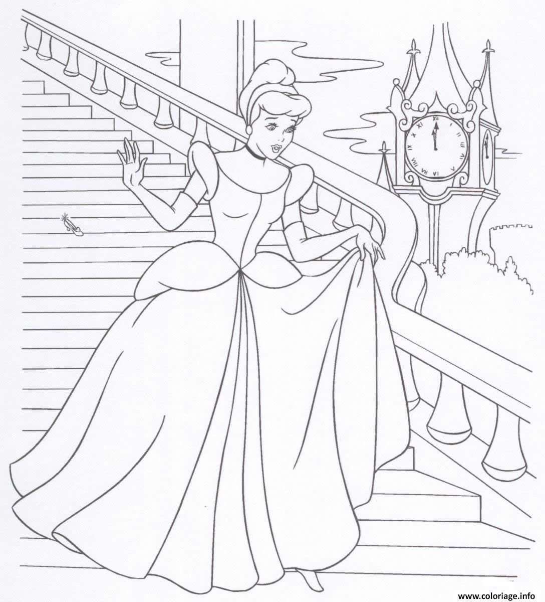Coloriage Cendrillon Princesse 18 Jecoloriecom
