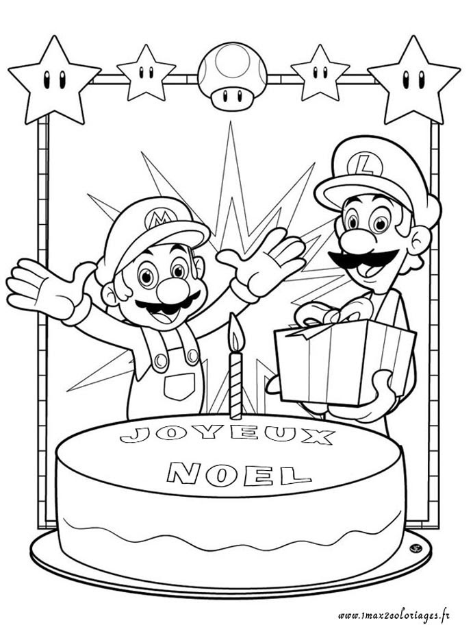 Coloriage Mario Et Luigi Az Coloriage