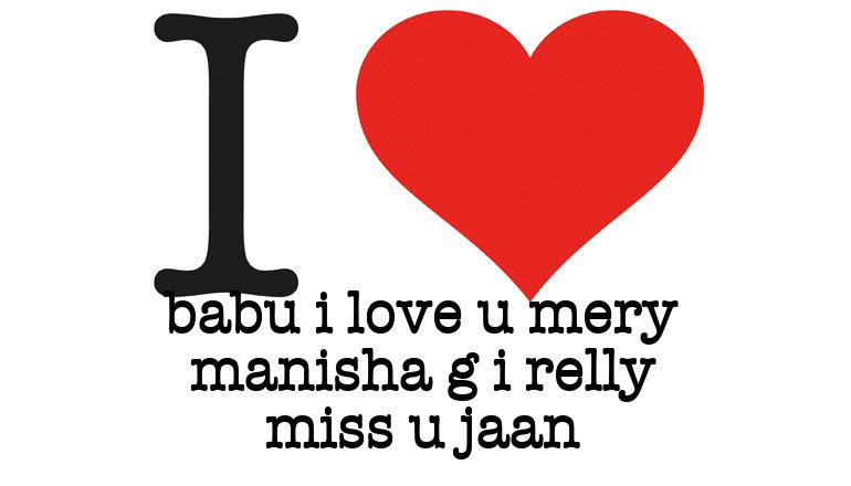 I Love Babu I Love U Mery Manisha G I Relly Miss U Jaan I Love You