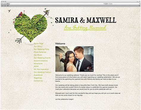 Wedding Planning: Creating a Wedding Website