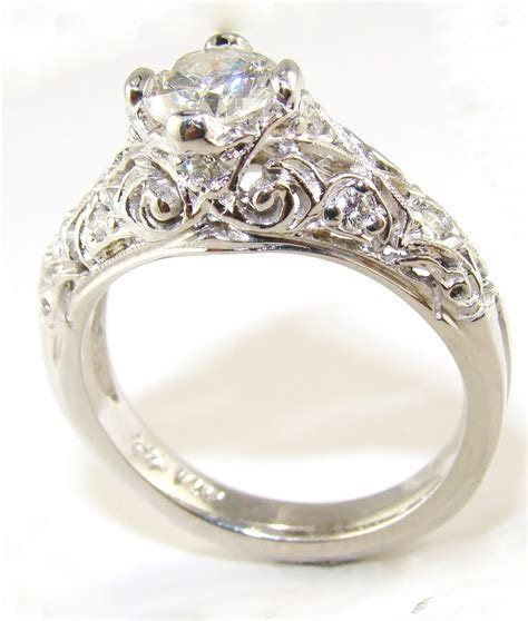Vintage diamond engagement ring for women