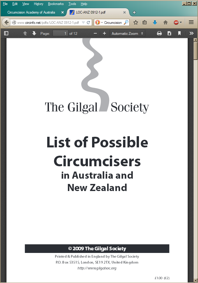 Gilgal's list of circumcisers on Morris's site