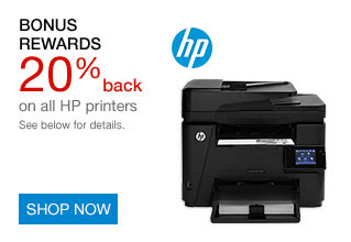 20% back in rewards on all HP printers | SHOP NOW