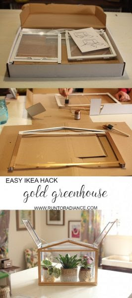 Run To Radiance DIY Gold Ikea Hack Greenhouse Karren