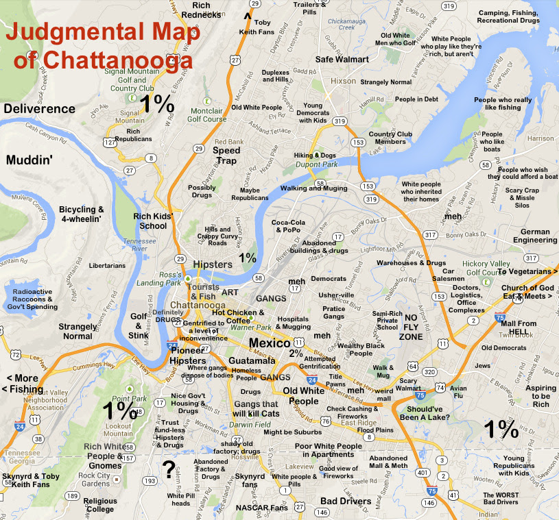 Map Of Chattanooga Tn World Map 07