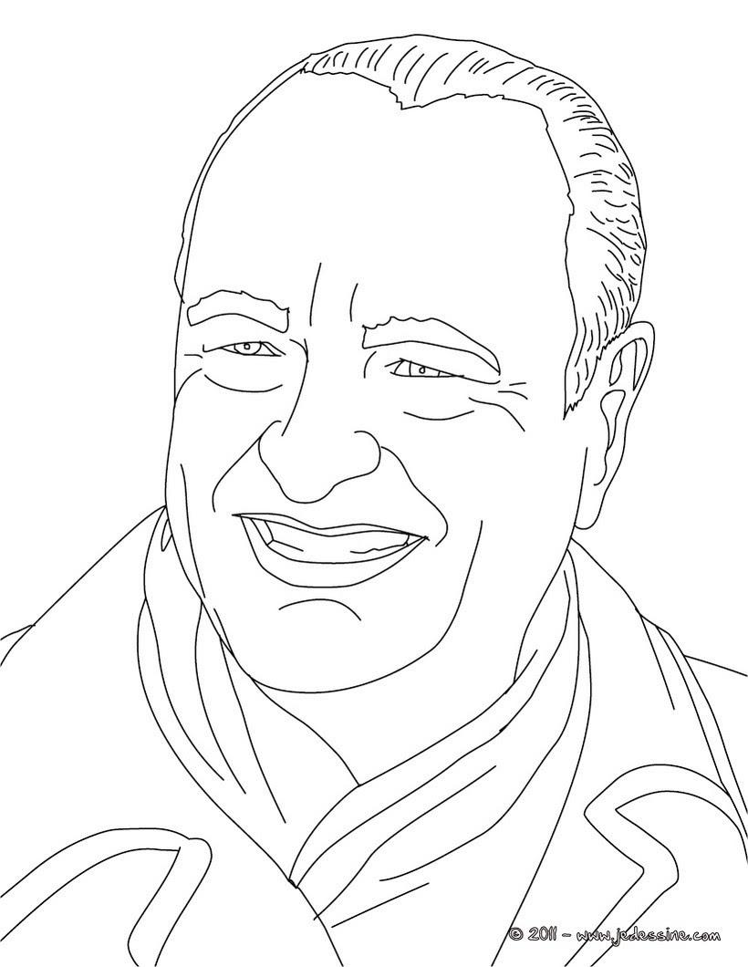 Coloriage du Président JACQUES CHIRAC