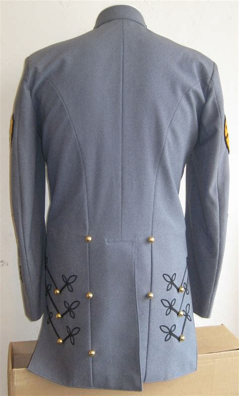 vintage mens blue military marching band uniform jacket