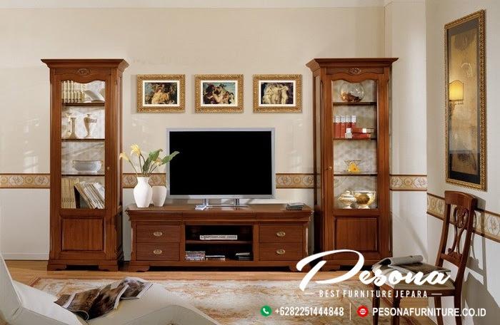 Bufet Tv Kayu Jati Minimalis Terbaru Ruang Tv Dengan Desain Bufet Tv Minimalis Pesona Furniture