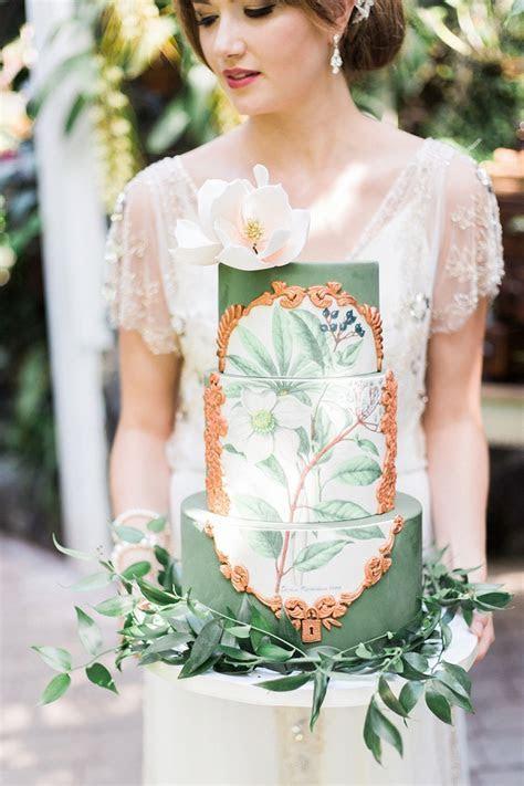 Botanical Wedding Cake   Chic Vintage Brides : Chic