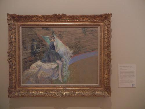 DSCN7780 _ At the Cirque Fernando, Rider on a White Horse, 1887-1888, Henri de Toulouse-Lautrec (1864-1901), Norton Simon Museum, July 2013