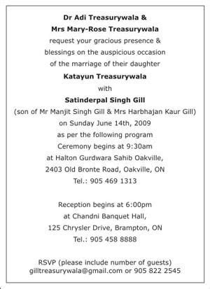 Sikh Wedding Invitation Wordings,Sikh Wedding Wordings
