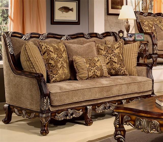 Homey Design - Coria Sofa - HD-4825-S - Traditional ...