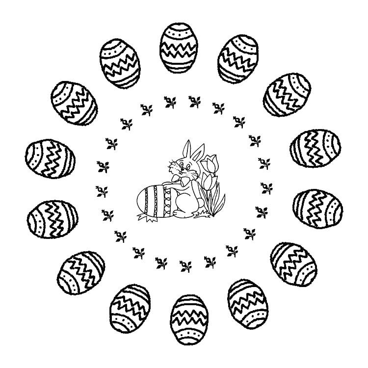 Disegni Da Colorare Mandala Di Pasqua Morning Kids