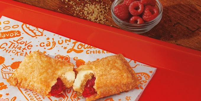Popeyes Has A New Raspberry Cheesecake Dessert Pie That's Filled With Graham Crackers