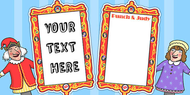 and Judy Editable Posters - punch, judy, editable, posters