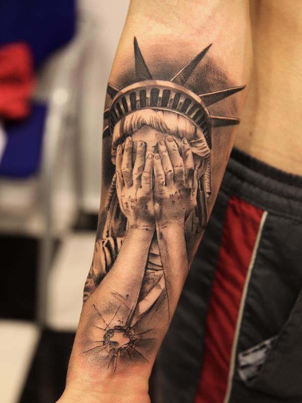 Estatua Sin Libertad Copia Tatuajes Online