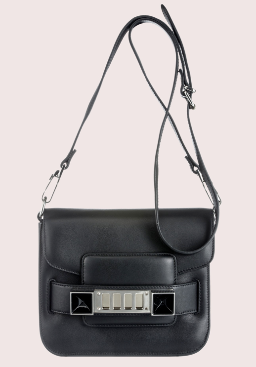 LE FASHION BLOG NEW PROENZA SCHOULER BAG SMALLER PS11 TINY CROSS BODY BAG BLACK photo LEFASHIONBLOGNEWPROENZASCHOULERBAGSMALLERPS11TINYCROSSBODYBAGBLACK.png