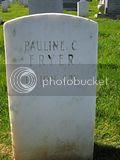 Pauline Fryer tombstone