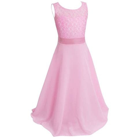 kids girls lace princess dress children pageant wedding