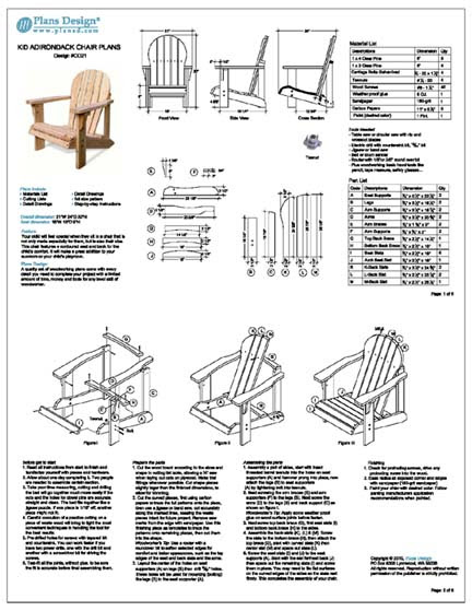 Adirondack Chair Cad Plans New Woodworking Ideas