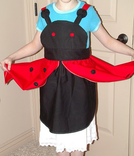 ladybug apron wings