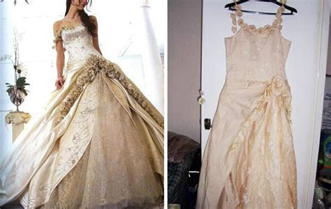 Ads Versus Reality: 14  Disappointing Wedding Dresses