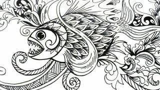 Gambar Sketsa Batik Ikan Tulisanviralinfo