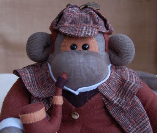 Sock Monkey - Sherlock Holmes by siansburys