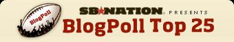 SB Nation BlogPoll Top 25 College Football Rankings
