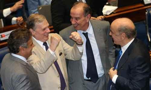 Brasília- DF 24-02-2016    Senadores durante votação do projeto que permite reduzir peso da Petrobras no pré-salFoto Lula Marques/Agência PT