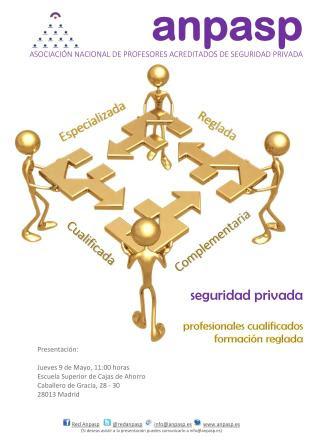 Presentación ANPASP - 9 de Mayo en la ESCA (Madrid)