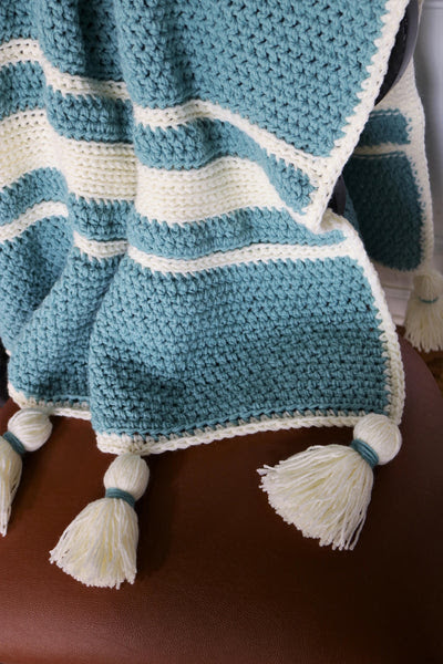 Tassel Throw  Crochet Pattern