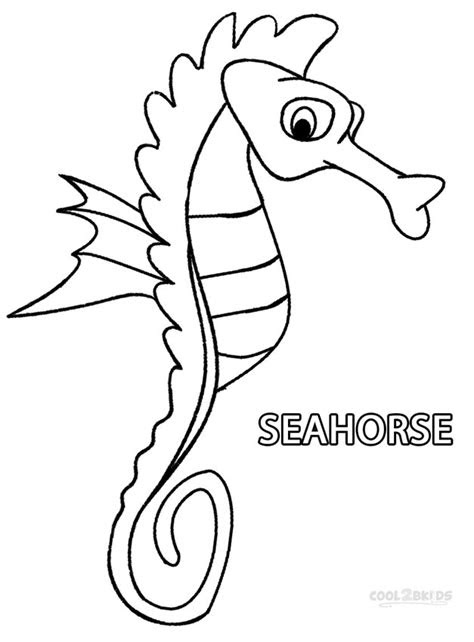printable seahorse coloring pages  kids coolbkids