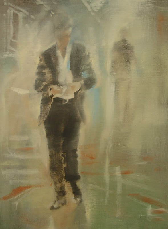 "Il Poeta di Milano (The Poet of Milan) 24""x18"" oil on linen 2012"
