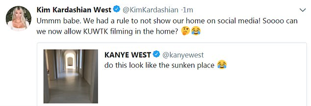Kim Kardashian Scolds Kanye West On Twitter