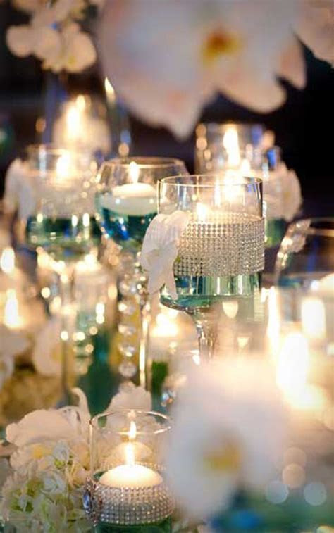 Caribbean Islands Tiffany Blue Wedding reception table