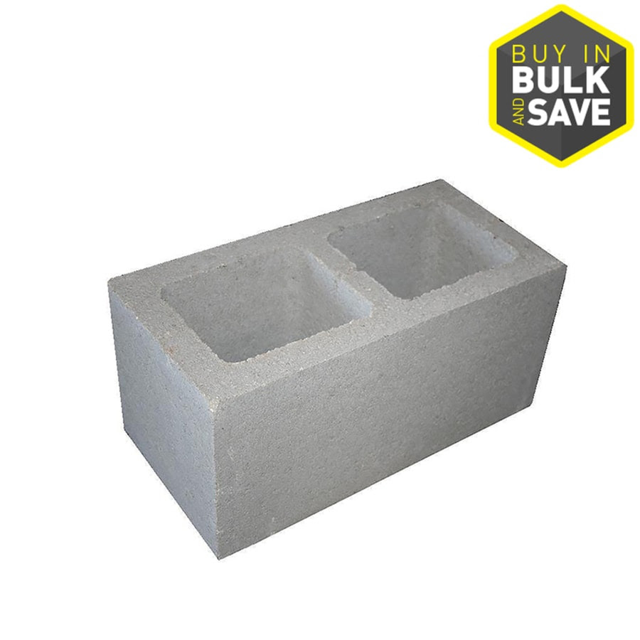 8 In X 8 In X 16 In Standard Cored Concrete Block In The Concrete Blocks Department At Lowes Com