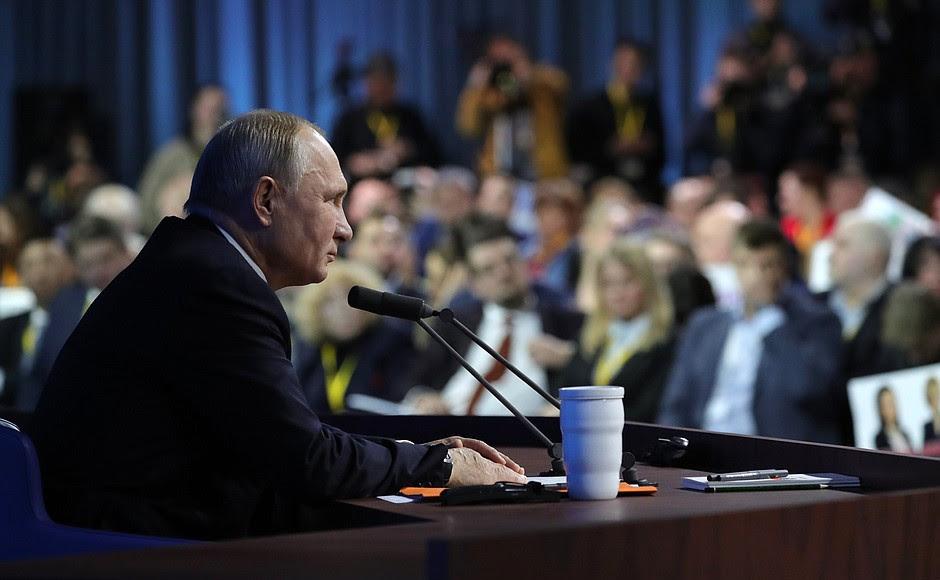 Vladimir Putin's annual news conference.