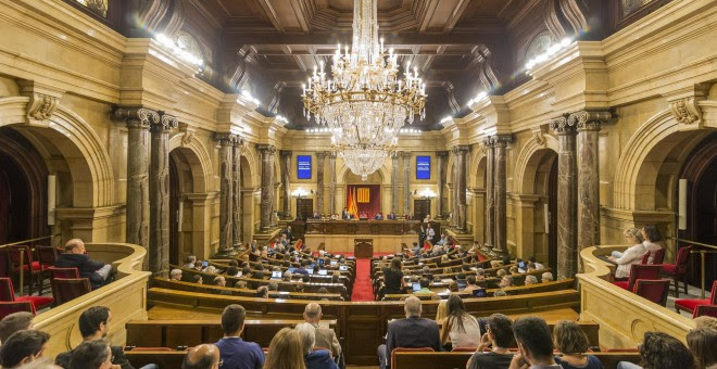 Plano general del Parlament de Catalunya. EUROPA PRESS