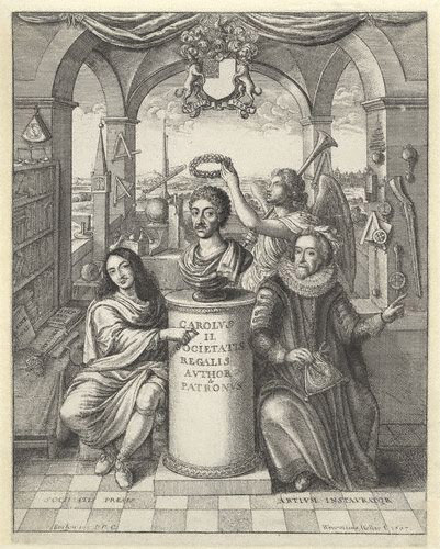 File:Frontispiece to 'The History of the Royal-Society of London'.jpg