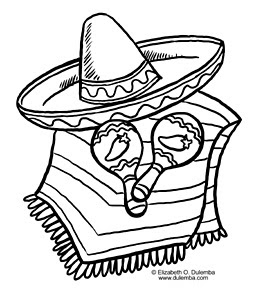 dulemba: Coloring Page Tuesday Latino Book Month