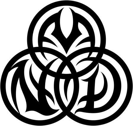 Tribal Tattoo Lettering border=