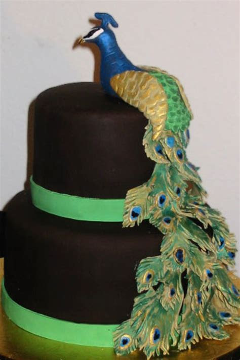 Peacock Cake   CakeCentral.com