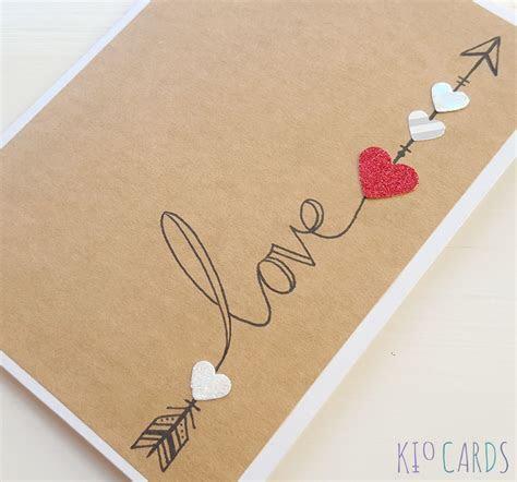 KIO CARDS   HAND DRAWN LOVE ARROW ANNIVERSARY CARD #love #