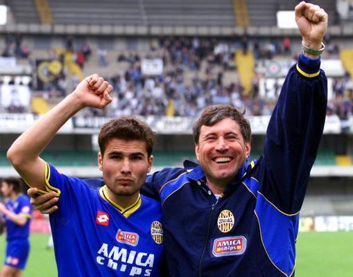 Alberto Malesani con Adrian MUTU ai bei tempi...