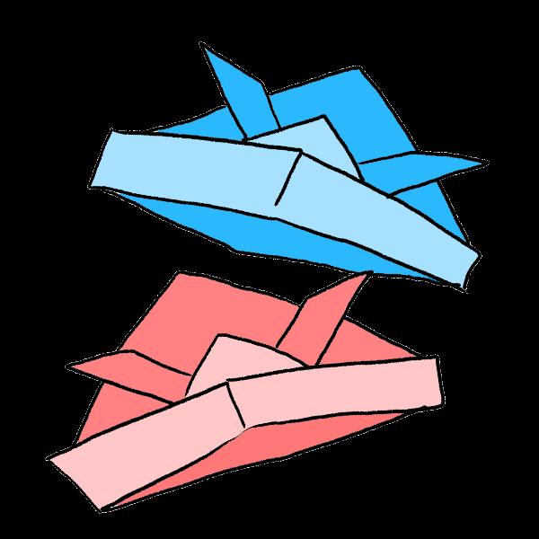 折り紙かぶとのイラスト かわいいフリー素材が無料のイラストレイン