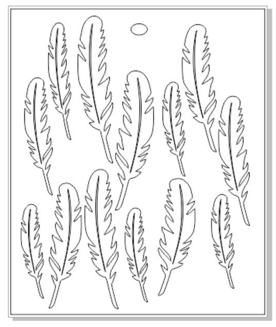 Micro feathers sold 3\'s